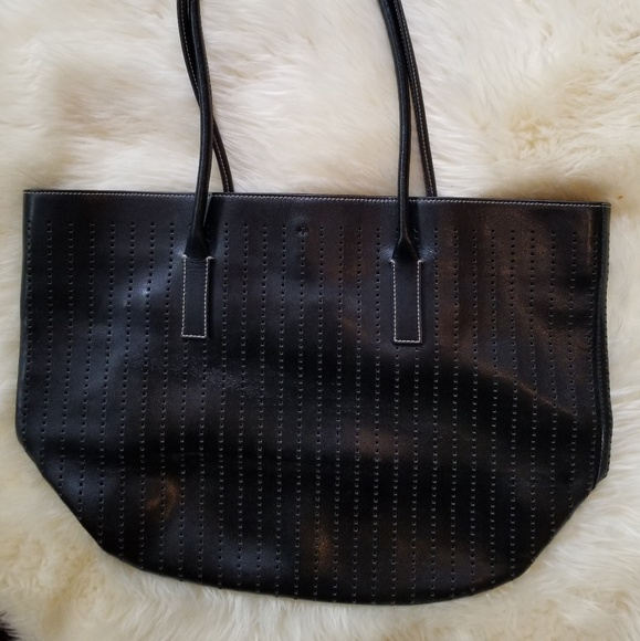 956ac43f47fa Prada Bags | Leather Perforated Tote | Poshmark